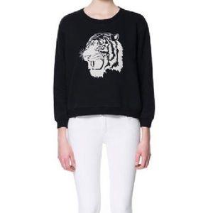 Zara Black tiger sweatshirt
